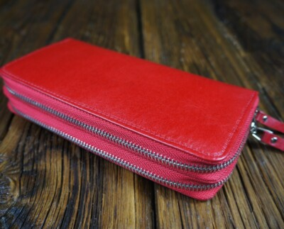 Women's natural leather wallet W303RM