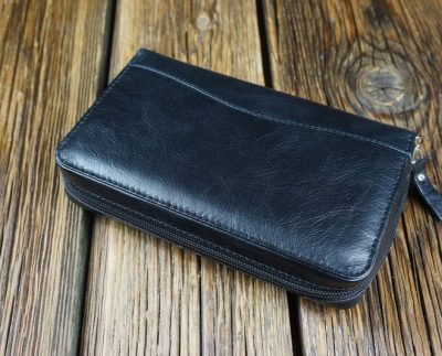 Men's natural leather wallet W6B1