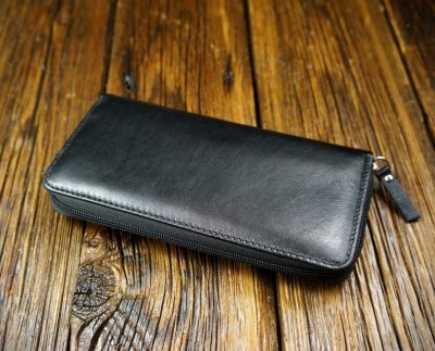 Men's natural leather wallet W301B1