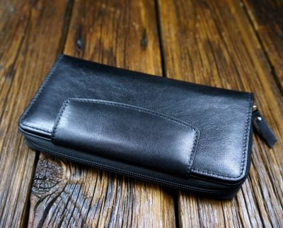 Men's natural leather wallet W305B1