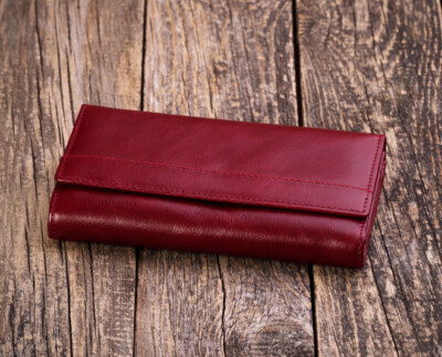 Women's natural leather wallet W161DR