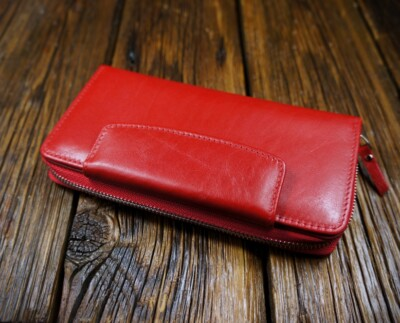 Women's natural leather wallet W305RM