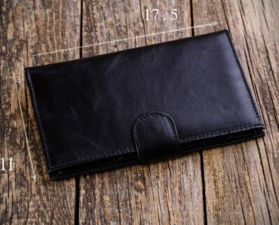 Men's natural leather wallet W10B
